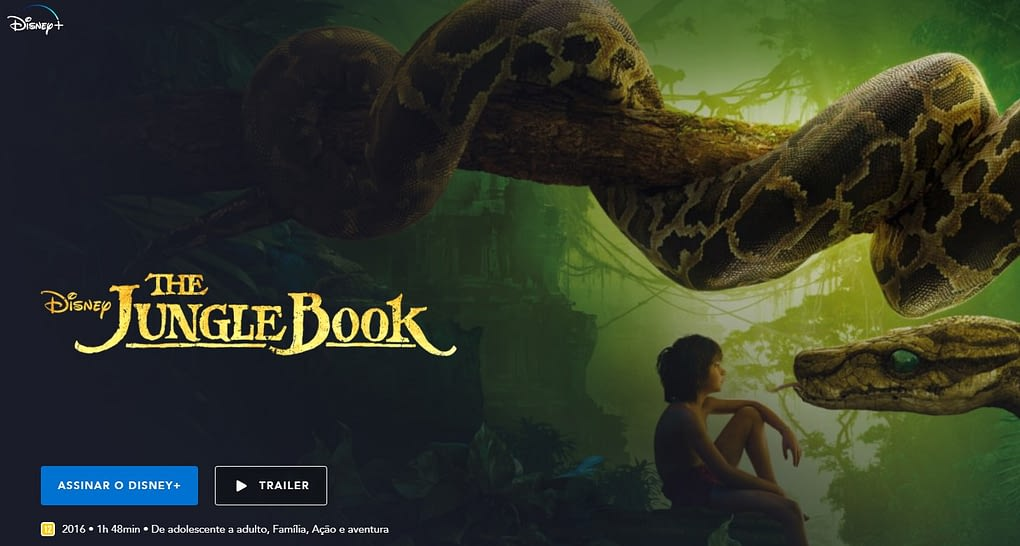 The Jungle Book - Disney - termos do cinema