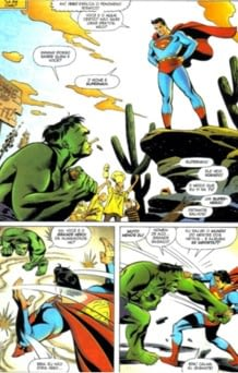 Hulk vs Superman encontro entre Marvel e DC