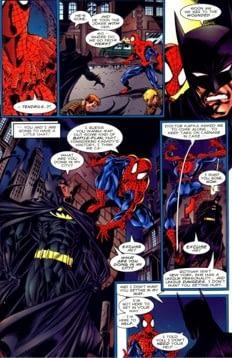 Homem aranha encontro entre Marvel e DC